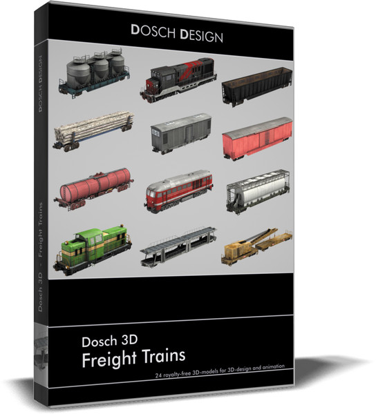 freight trains c4d - DOSCH 3D: Freight Trains... by Dosch Design