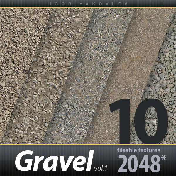 Gravel, Stones 2048x2048 vol.1