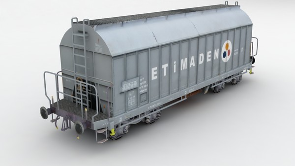maya tcdd borax wagon - TCDD Borax (Acid) Wagon... by Mertcan0403