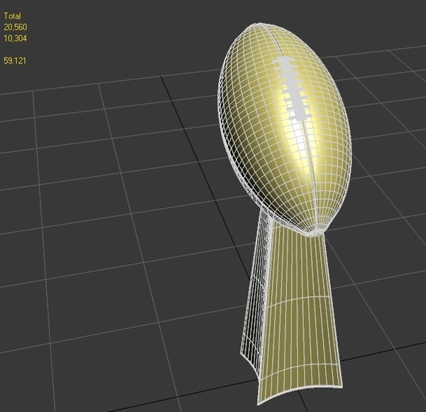 trophy final 3d 3ds - Vince Lombardi Trophy... by Panait George Dorin
