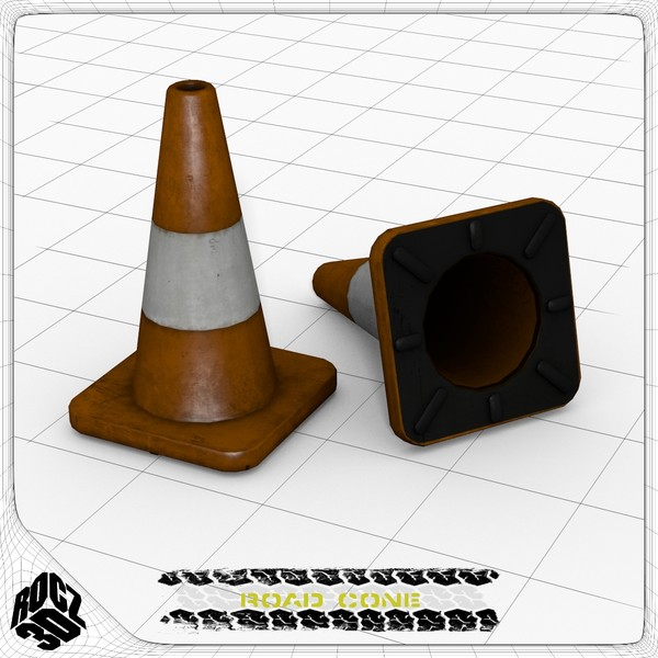 3d model road cone - Rocz3D Road Cone... by Rocz3D