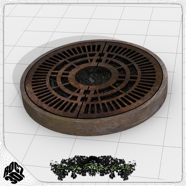 3d model tree planter grate - Tree Planter Grate Circle 1... by Rocz3D