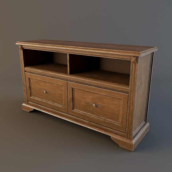3d model chest drawers - Chest_of_Drawers(01)... by kotiss
