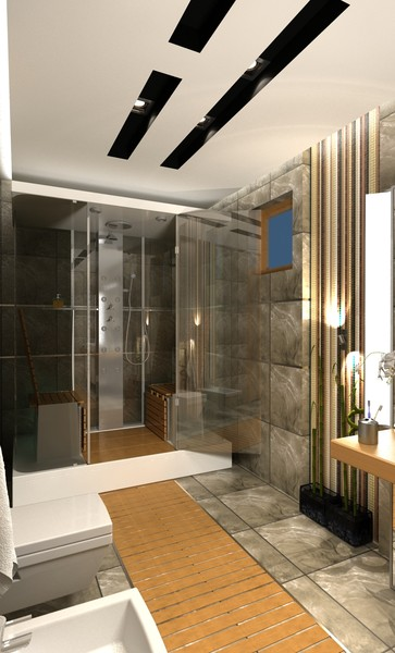 bathroom scene max - BATHROOM contemporary... by solarseas