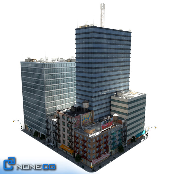 3d model new york city block - NYC Block Set 2... by NONECG