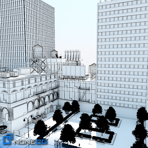 3d model new york city block - NYC Block Set 8... by NONECG