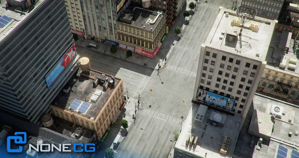 new york 4 blocks 3d model - NYC - 4 Blocks - 31 Buildings... by NONECG