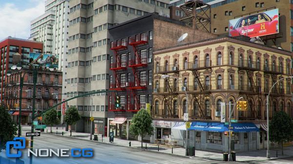3d new york 8 blocks model - NYC - 8 Blocks - 68 Buildings... by NONECG