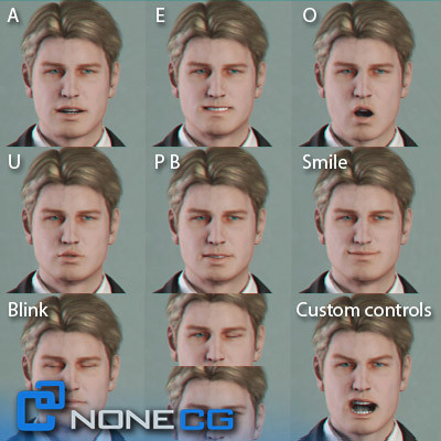 realistic male character rigged 3d model - Adult Male Brian Rigged... by NONECG