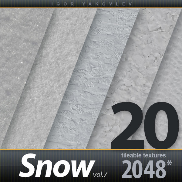Snow Textures 2048x2048 vol.7
