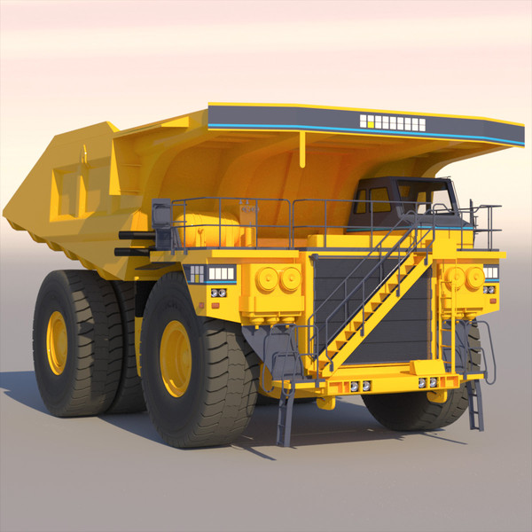 3d model mining rigid dumptruck - Mining Rigid DumpTruck 2012... by ArqArt3D