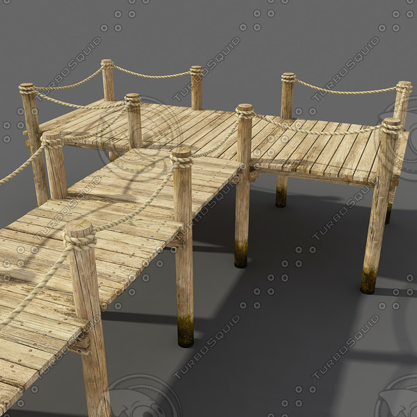 3ds max wooden pier wood - wooden pier... by PlastyForma