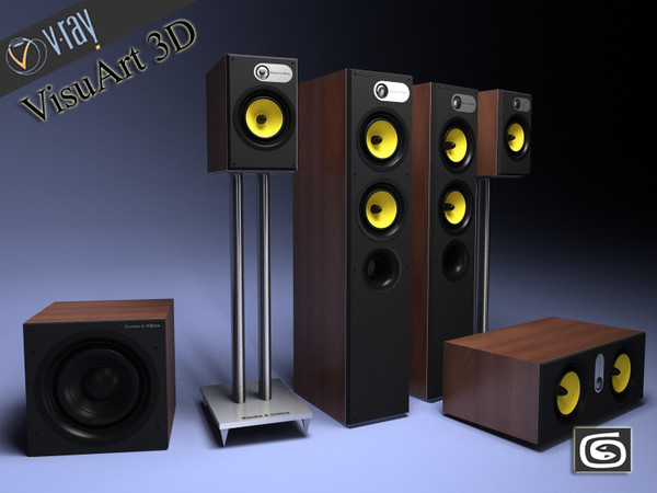 3d model 684 theatre - Bowers and wilkins 684 theatre... by VisuArt3D