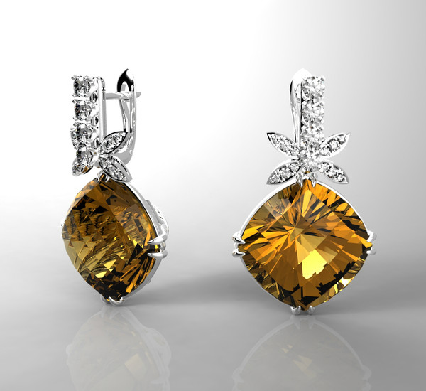 3ds max 1 white gold - Earrings(1)... by Khromchenko