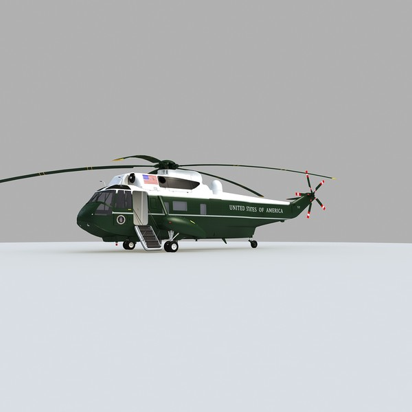 3d model marine helicopter - Marine One VH-3D Sea King... by Gandoza