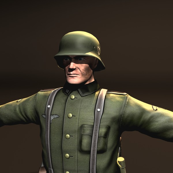 3d wehrmacht soldier model - Wehrmacht Soldier... by VIS3D