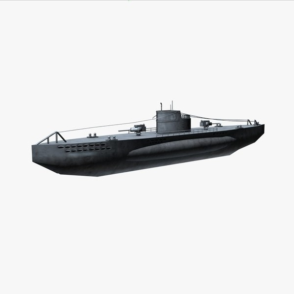 3d 3ds war german submarine u-boat - u-boat WWII submarine... by Bondiana