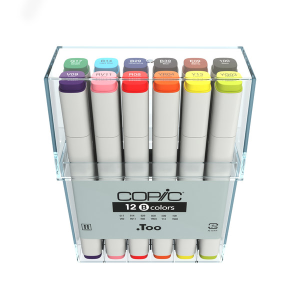 colors copic markers 3d model - Copic Basic Colors... by 811