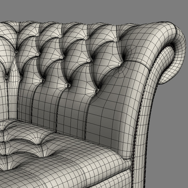 sofa chesterfield durham 3d max - Chesterfield The Durham Sofa... by joker1979