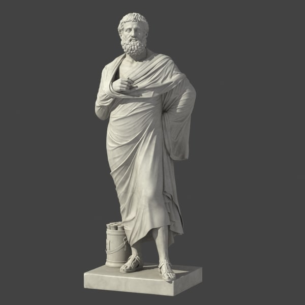 sophokles greek roman 3d model - Sophokles... by clay master