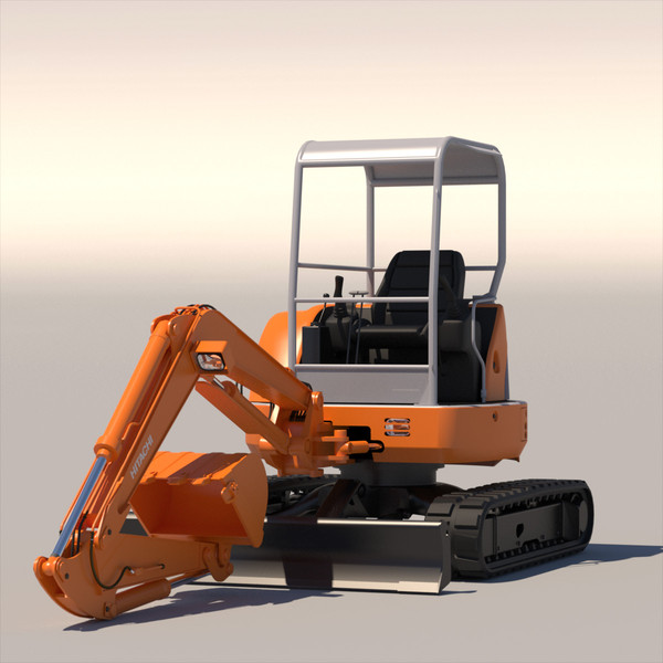 mini excavator hitachi ex50u 3d max - Mini Excavator Hitachi EX50U... by ArqArt3D