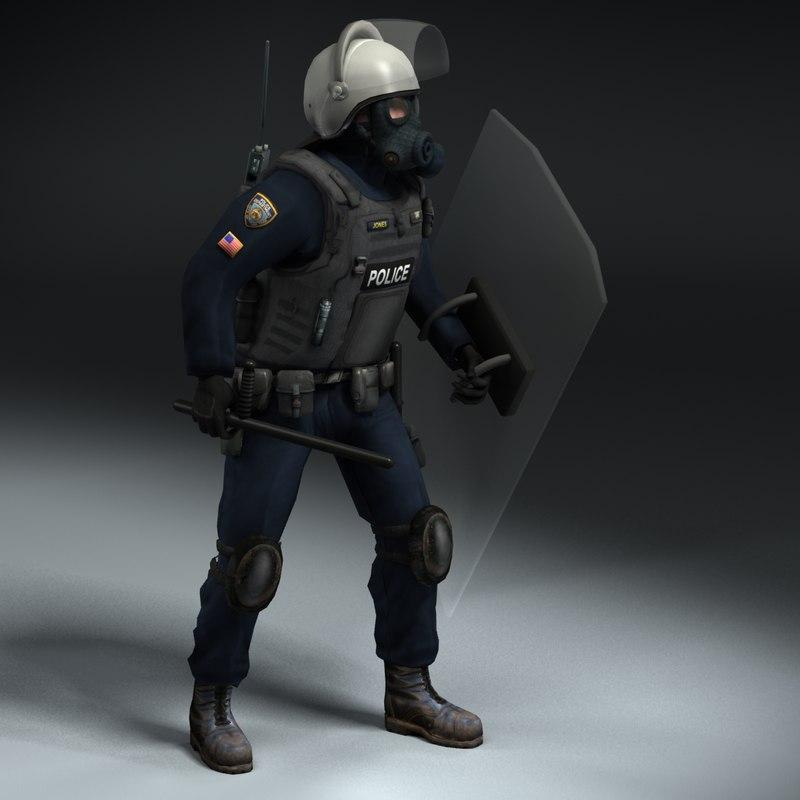 Riot Policeman Rigged