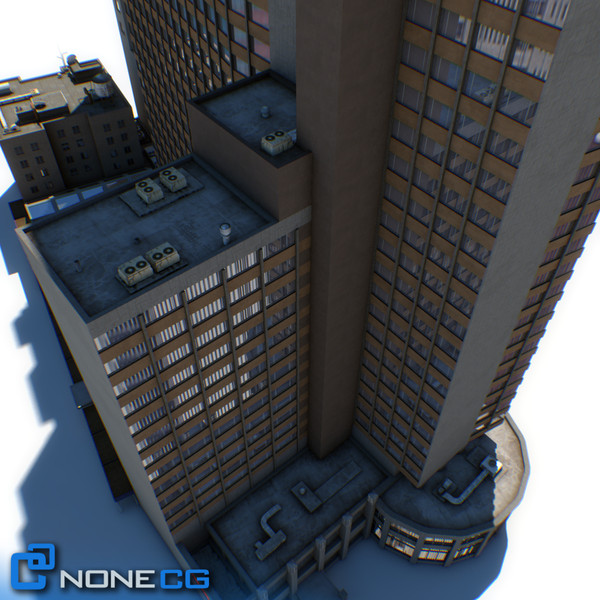 3d sheraton 7th avenue building - NYC Building Sheraton 7th Avenue... by NONECG