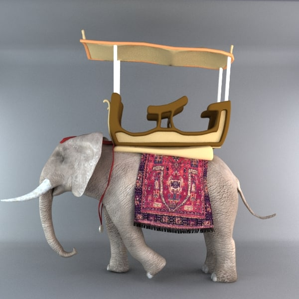 3d elephant african model - Elephant 3... by happyyyy