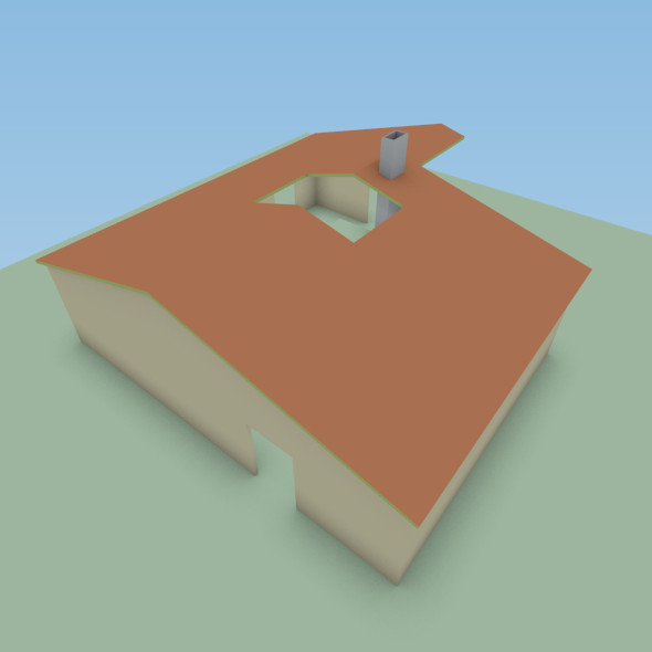 obj basic base - Basic House Model... by robstranges