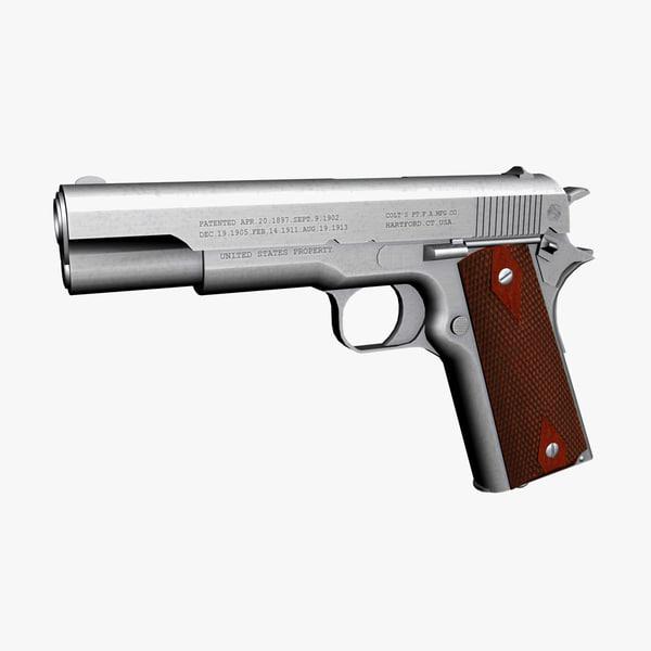 Colt 1911 3D models