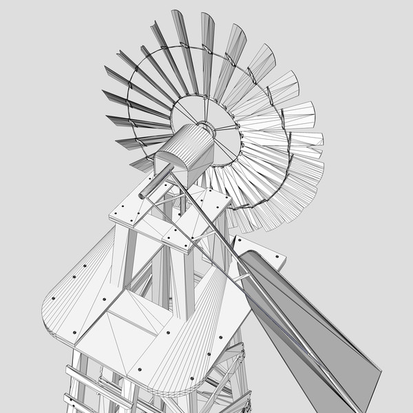 old farm windmill 3ds - The Old Farm Windmill... by chaosfractal