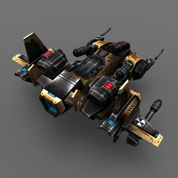 3d model of 2 space ship bosses - 2_Space_Ship_Boss... by Angryfly