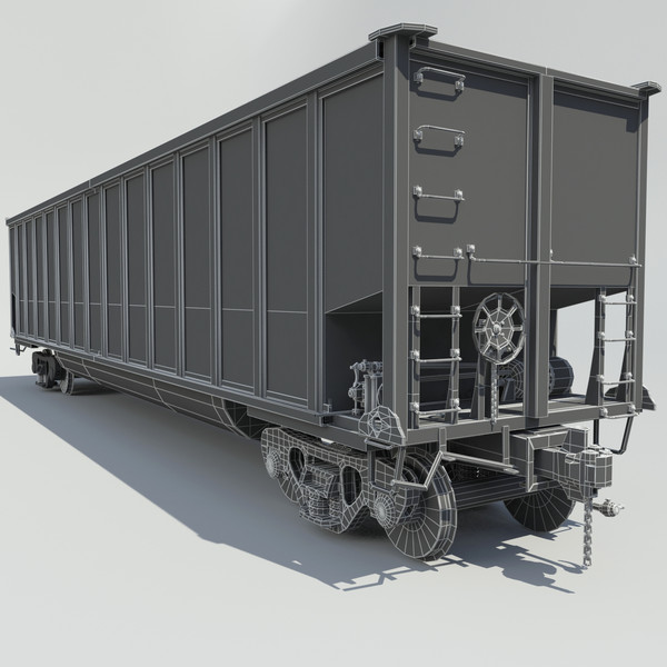 3d model railway coal car cargo train - Train Coal Car... by Trueview 3D
