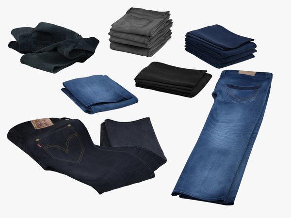 Jeans_Collection 3D Models