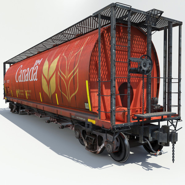 3d railway grain car cargo train - Train Grain Car... by Trueview 3D