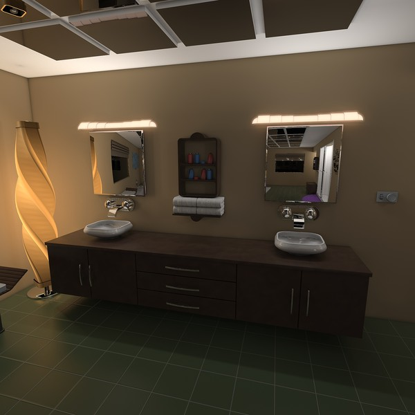 modern elegant bathroom interior c4d - Elegant Bathroom... by KeremGogus