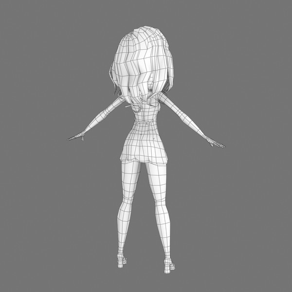 3d rigged cartoon blonde girl animation model - Rigged Cartoon Woman 03 Blonde in Red... by Denys Almaral