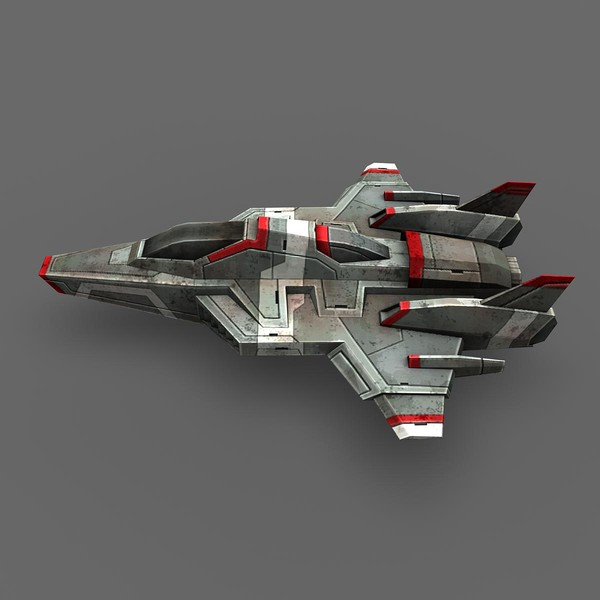 3d model ready games real-time - Space_Frigate_1... by Angryfly
