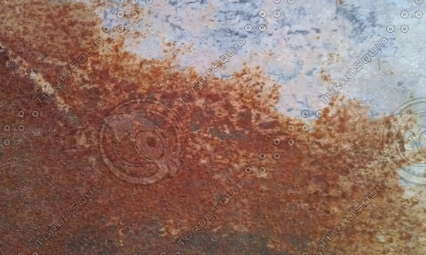 Partially Rusted Metal Surface