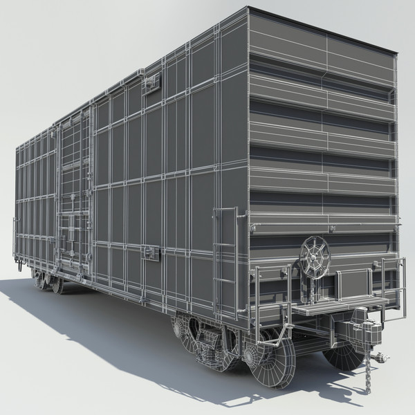 cargo cars 3d max - Train 4 Freight Cars... by Trueview 3D