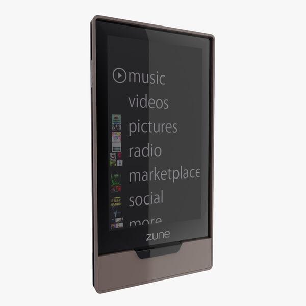 Microsoft Zune 3D models