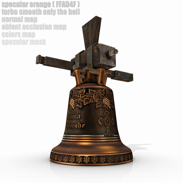 medieval church bell 3d obj - Medieval Church Bell... by SG GROZA