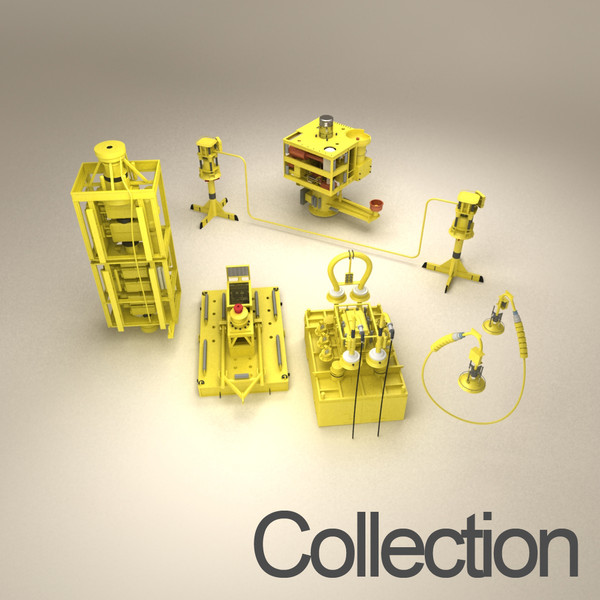 3dsmax sub sea production - Sub Sea Production System... by Fresh Pear 3d 