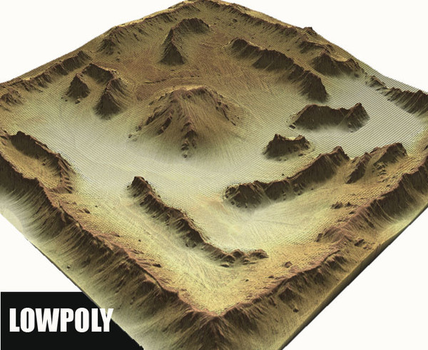 3d model landscape terrain - Glevel x1... by ERLHN