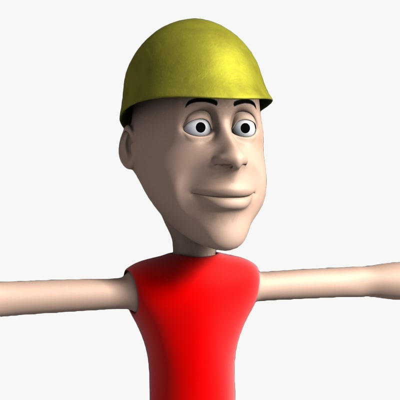 Jimmy Cartoon Character Non Rig