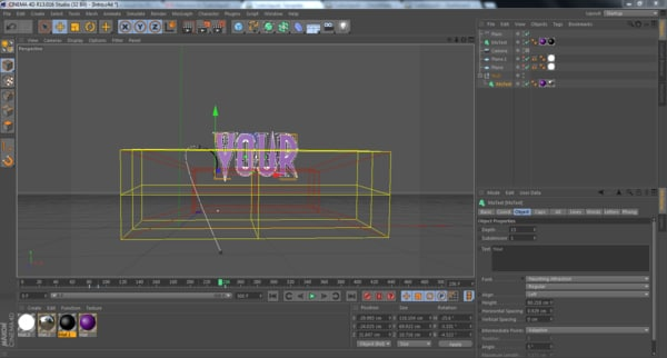 3d model intro template - C4D Intro Template... by NaldFX