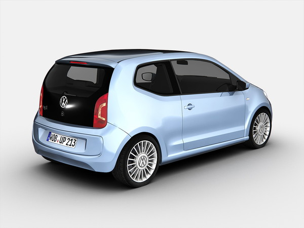 volkswagen car 3d obj - Volkswagen Up (2013)... by Swan3DStudios