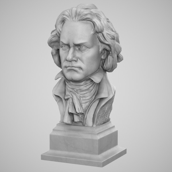 3dsmax decorative bust beethoven - Beethoven Bust... by clay master
