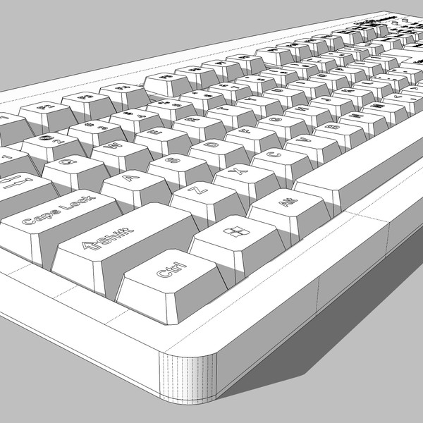 cinema4d computer keyboard - Computer Keyboard: C4D Format... by phantomliving