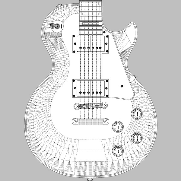 guitar gibson les 3d c4d - Gibson Les Paul Guitar: Custom Sunburst: C4D... by phantomliving